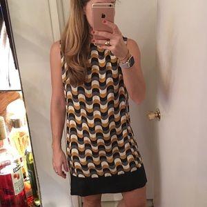 MILLY GEOMETRIC PRINT SHIFT DRESS Bergdorf Goodman